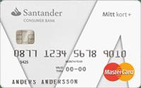 Santander Mitt kort+ plus